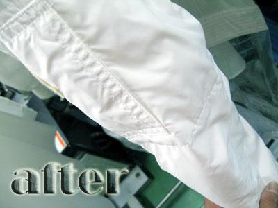 MONCLER (モンクレール)ダウンジャケットの染み抜き後