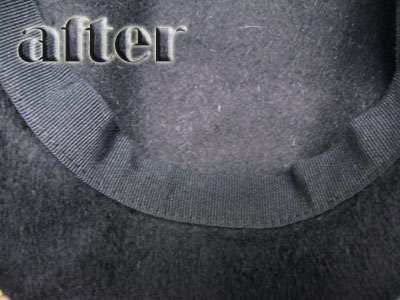 DA.ME  帽子のファンデーションの染み抜き後